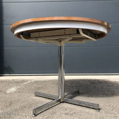 Table ronde formica marron