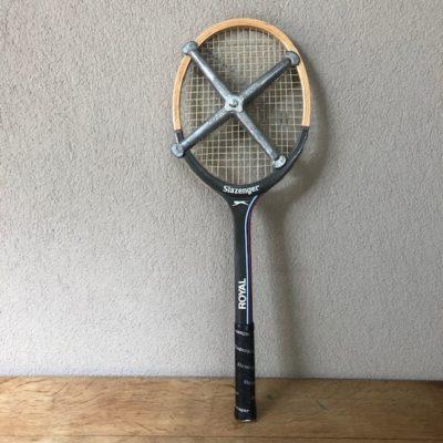 Raquette tennis cadre bois vintage