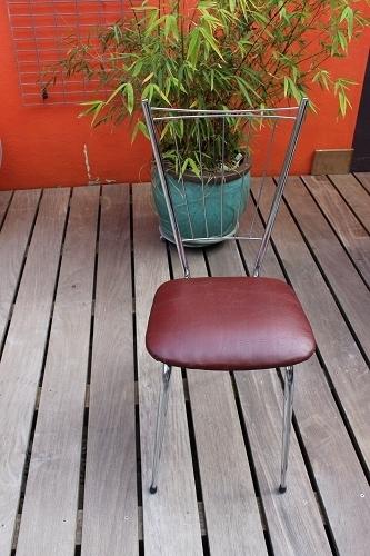 chaises avec assise ska et structure chrome vintage vintage by fabichka. Black Bedroom Furniture Sets. Home Design Ideas